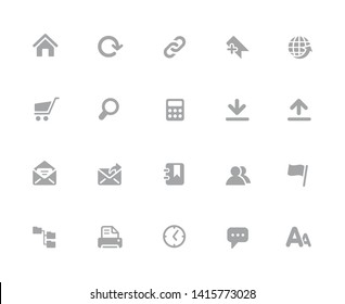 Website Icons // 32 pixels Icons White Background - Vector icons designed to work in a 32 pixel grid at ten percent.