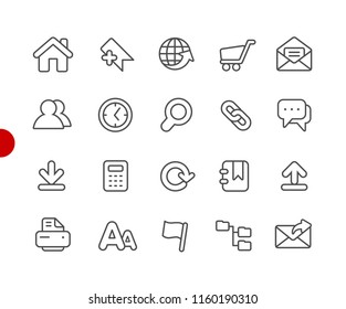 Website Icons // Red Point Series - Vector line icons for your digital or print projects.