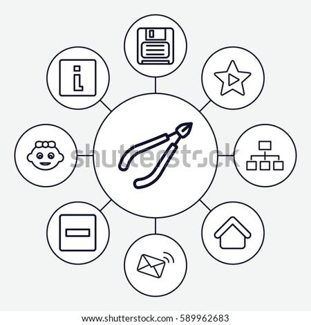 Website Icons Set Set 9 Website Stock Vector Royalty Free