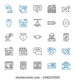website icons set. Collection of website with email, card, load time, tablet, telephone, chat, calendar, house, app, woman, heart, compress. Editable and scalable website icons.
