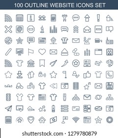 website icons. Trendy 100 website icons. Contain icons such as sun, favorite music, browser, wi fi, flag, rank, home, guitar mediator, calculator. website icon for web and mobile.