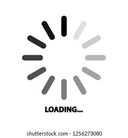 website information loading circle isolated  icon