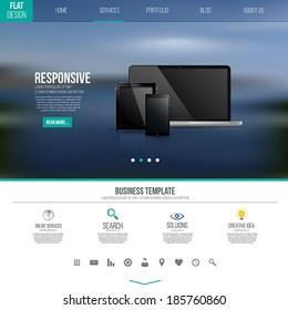 Website interface template design. Vector