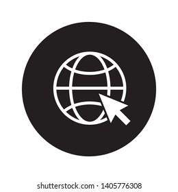 website, internet, go to web icon vector illustration