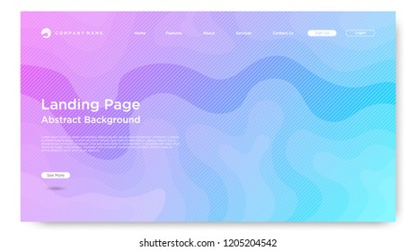 Website Landing Page Background, Modern Abstract Style