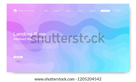 website landing page background modern abstract stock vector