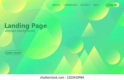 Website landing page. Geometric background. Minimal abstract cover design. Creative colorful wallpaper. Trendy gradient poster. Vector illustration.