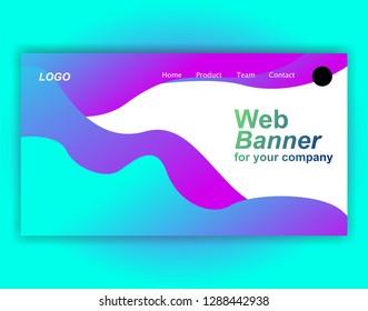 Website landing page gradient vector illustration - background banner template concept paper cut inovation