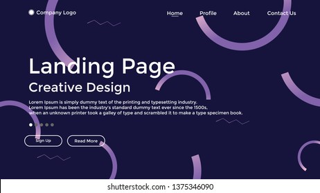 Website Landing Page,Line, Gradient, Abstract Modern Background