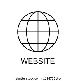 website line icon. Element of human resources signs with name for mobile concept and web apps. Thin line website line icon can be used for web and mobile on white background