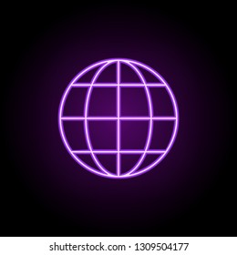 website line icon. Elements of web in neon style icons. Simple icon for websites, web design, mobile app, info graphics