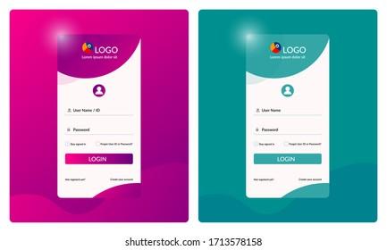 Website & mobile apps login page illustration. Login form. Login page design. Illustration for Sign in and Sign up page. Registration page. Log in design. Log in form. Apps screen