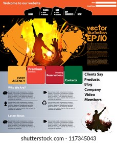 Website music template