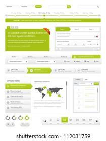 Website navigation collection set. Buttons, Sliders, Media Player, Login, Switchers/Website Navigation Pack