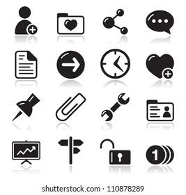 Website navigation icons set
