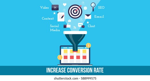 website optimization for better conversion, increasing conversion rate through SEO, social media, content, email and other marketing technology