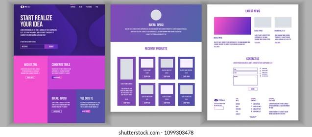 Website Page Vector. Business Website. Web Page. Landing Design Site Scheme Template. Creativity Goal. Human Resources. Meeting Teamwork. Illustration