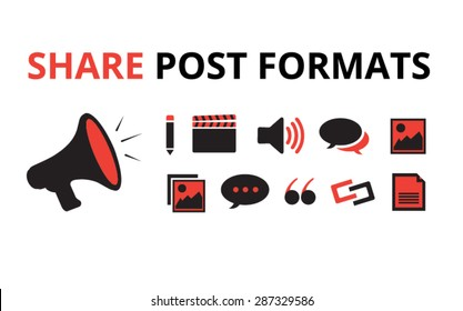 Website Post Formats, Sharing Social Media