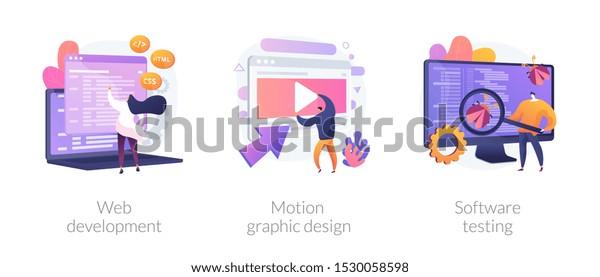 Website Programming Coding Computer Animation Designer Stock Vector Royalty Free 1530058598
