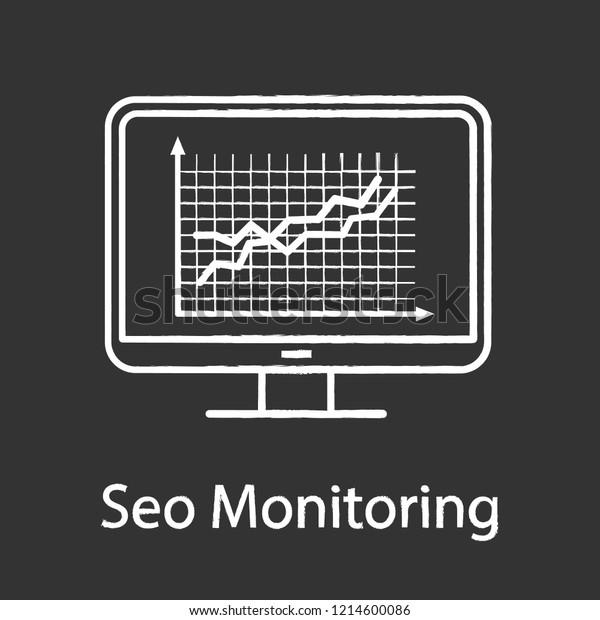 Website Ranking Chalk Icon Seo Monitoring Stock Vector (Royalty Free