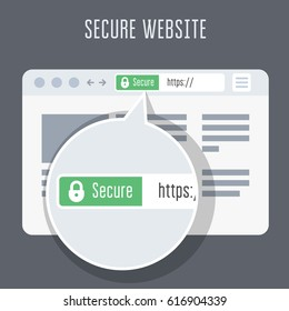 Website with ssl certificate - green address bar in browser window
