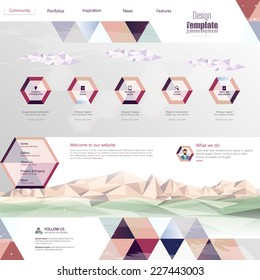 Website Template Abstract Unusual Design, Eps 10