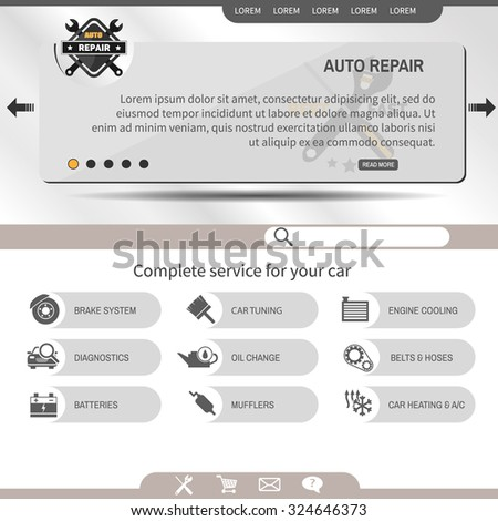 website template auto repair service stock vector royalty free