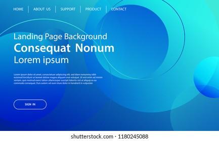 Website template design and landing page line dynamic shapes blue background. Vector illustration for apps development, mobile, ui template.