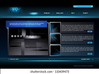 Website Template - eps10 Vector Design