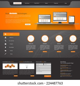 Website Template /Modern Clean Business style/
