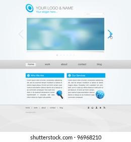 Website template - modern simple design