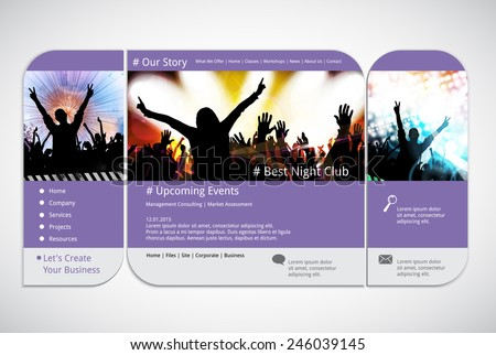 Website Template Music Event Banner Vector Stock Vector Royalty