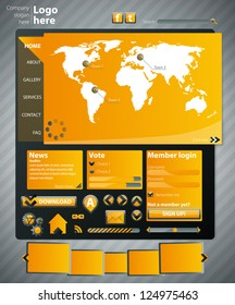 Website template orange