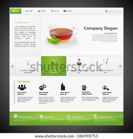 Website Template Professional Modern Design Photorealistic Stock