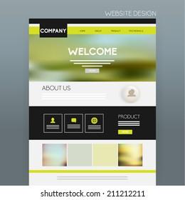 Website Template Vector Design