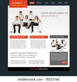 Website Template. Vector illustration.