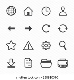 Website and Toolbar Icons with White Background