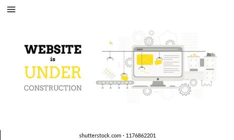 web under maintenance images stock photos vectors shutterstock. Black Bedroom Furniture Sets. Home Design Ideas