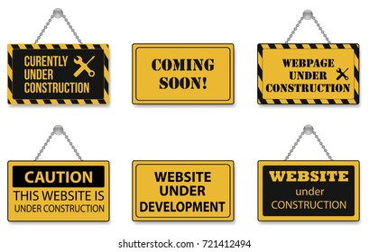Web Page Under Construction Images Stock Photos Vectors