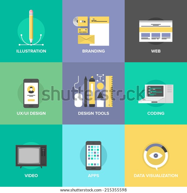 Website User Interface Design Web Page Stock Vector Royalty Free 215355598