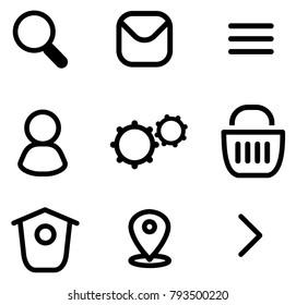 Website vector icon set.