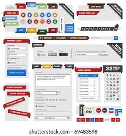 Website Web Design Frame Vector