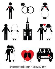Wedding 2 icon set