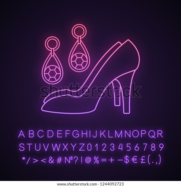 8e7ff814aa6 Wedding Accessories Neon Light Icon Women Stock Vector (Royalty Free ...