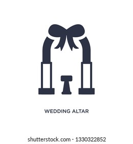 wedding altar icon. Simple element illustration from birthday party and wedding concept. wedding altar editable symbol design on white background. Can be use for web and mobile.