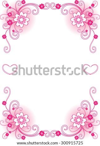 wedding anniversary card border stock vector royalty free