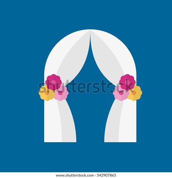wedding arch icon flat disign