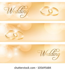 wedding banner images stock photos vectors shutterstock https www shutterstock com image vector wedding banner rings 105695684