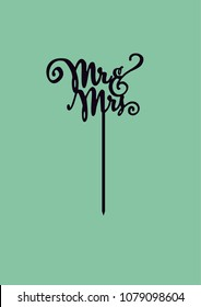 """Wedding cake topper """"Mr&Mrs"""""""