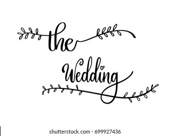 The Wedding Calligraphy Hand Lettering Vector